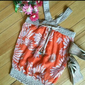 NWT - MISS ME Couture Silk Boho Halter Top